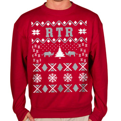 Crimson and White RTR Tacky Christmas Sweater Crewneck Sweatshirt ...