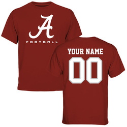 Alabama Crimson Tide Personalized Football Logo T-Shirt - Crimson