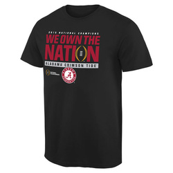 Alabama Crimson Tide College Football Playoff 2015 National Champions We Own the Nation T-Shirt - Black