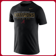 Alabama Crimson Tide Nike College Football Playoff 2015 National Champions Locker Room T-Shirt - Black